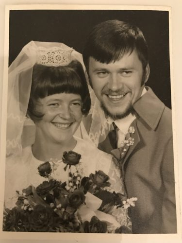 Bröllopsfoto föräldrarna