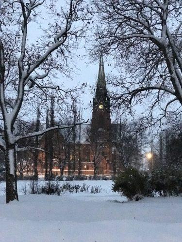 Stadskyrkan i vinterskrud