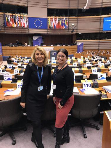 Jelena och jag Bryssel